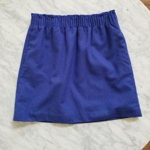 J. Crew Blue Elastic Waist Mini Skirt